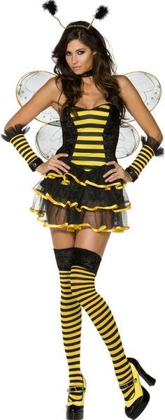 Sexy bijen outfit voor dames : Vegaoo Volwassenen Kostuums