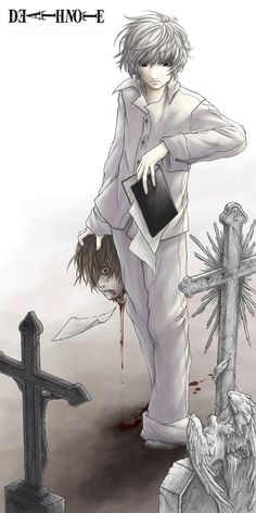 It's gory and screwed. But I guess the meaning is L truly won in the end, through his successors, and no, I don't really like Near.  But he's better than a certain Psycho.