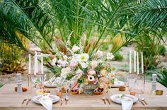 Sun-Drenched Wedding Inspiration at a Palm Tree Nursery