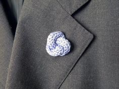 Lapel pin. Mens knot boutonniere. Men accessories. by ylleanna