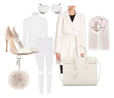 """All White"" by jsmalves on Polyvore featuring Michael Kors, Topshop, Yves Saint Laurent, Fendi, Brunello Cucinelli, Gianvito Rossi and Victoria Beckham"