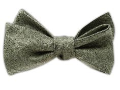 Downton Textured Solid - Apple Green Bow Tie, $25 at www.TheTieBar.com