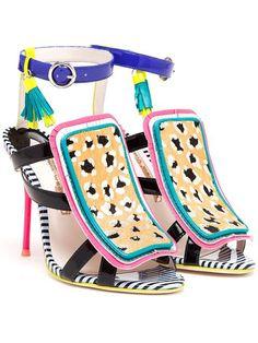 Sophia Webster 'marissa' Calf Hair Fringe Sandals