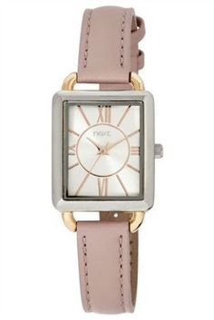 Nude Strap Square Faced Watch