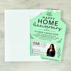 SET of Happy Home Anniversary Cards Real Estate Agent Card Real Estate Gifts, Real Estate Quotes, Real Estate Career, Real Estate Leads, Selling Real Estate, Real Estate Business Cards, Real Estate Office, Business Flyer, Business Ideas