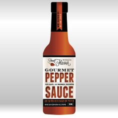 Logo and label design for a unique, natural, gourmet pepper sauce product. Sauce Bottle, Beer Bottle, Corona Beer, Label Design, Design Projects, Stuffed Peppers, Logo, Drinks, Natural