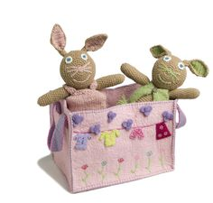An #adorable #pink #Kids #Bag for the childrens room.  (The price is for the bag only, bunnies are not included.) - $69.00