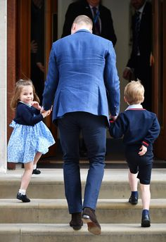 Prince George & Princess Charlotte to Meet Their Baby Brother. April 23, 2018. Born 11:01am