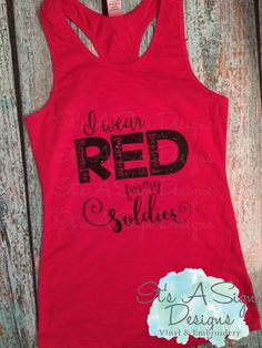 Red Fridays Shirt Military Deployment Girl Daddy Shirt Racerback Girls Shirt Navy Wife Shirt Army Wife Shirt Marine Corps Gift For Her by ItsASignDesignsbyJen on Etsy
