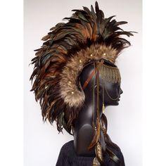 native feather headpiece