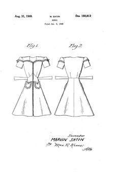 1948 DESIGN FOB A DRESS  Marvin Sati