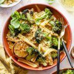 Butter Broccoli, Broccoli Pasta, Vegetarian Paella, Vegetarian Recipes, Delicious Recipes, Creamed Mushrooms, Stuffed Mushrooms, Stuffed Peppers, Mashed Parsnips