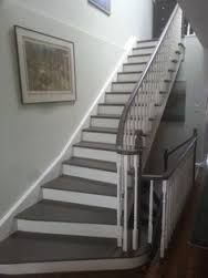 Stairs painted diy (Stairs ideas) Tags: How to Paint Stairs, Stairs painted art, painted stairs ideas, painted stairs ideas staircase makeover Stairs+painted+diy+staircase+makeover Painted Staircases, Painted Stairs, Black And White Stairs, Basement Steps, Open Basement, Escalier Design, Staircase Remodel, Staircase Makeover, Staircase Design