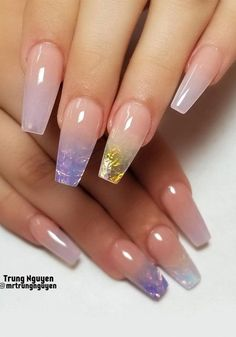 40 Fabulous Nail Designs That Are Totally in Season Right Now - clear nail art designs,almond nail art design, acrylic nail art, nail designs with glitter Ombre Nail Designs, Acrylic Nail Designs, Nail Art Designs, Almond Nail Art, Almond Acrylic Nails, Almond Nails, Clear Acrylic Nails, Acrylic Nail Art, Clear Nails With Glitter