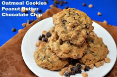 #Oatmeal Cookies – #Peanut Butter #Chocolate Chip  - A great combination of Oatmeal, Peanut Butter & Chocolate.