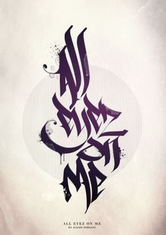 Distressed Calligraphy; that style would be awesome for a tattoo, especially the water spots.