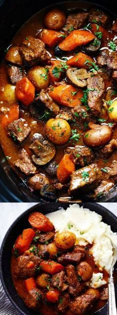 Slow Cooker Beef Bourguignon
