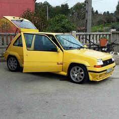 Renault 5 GT Turbo Yellow Renault 5 Gt Turbo, Renault R5, R5 Gt Turbo, Vive Le Sport, Jdm, Diecast, Cool Cars, Rally, Classic