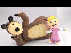 How to make Masha (and the bear) cake topper fondant tutorial masha e orso torta pasta di zucchero - YouTube