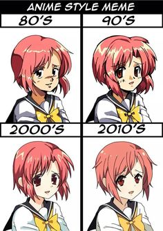 Anime style over time