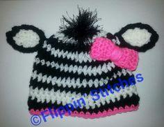 Free Zebra Stripe Crochet Pattern : Hats ~ Critters ? Characters on Pinterest Owl Hat ...