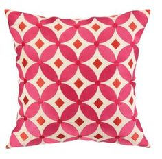 Vyvan 16x16 Embroidered Pillow, Pink