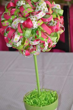 Pink & green Ladybugs Birthday Party Ideas | Photo 24 of 35 | Catch My Party