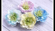 Foamiran Flowers & Centres Tutorial  - Lady E -