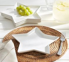 Star Shaped Melamine Salad Plate, Set of 4 #potterybarn