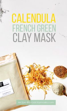 Acne breakouts are the worst, in this mask, french green clay absorbs the excess oils from your skin while calendula adds a natural cleanser to the mask that cleanses your pores and calms those inflamed breakouts. Try this DIY calendula face mask recipe. Natural Beauty Tips, Organic Beauty, Organic Skin Care, Natural Skin Care, Diy Skin Care, Skin Care Tips, Skin Secrets, Green Clay, Acne Prone Skin