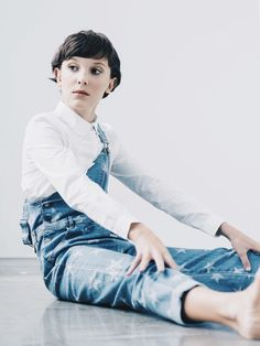 Millie Bobby Brown of Stranger Things for w magazine.