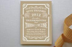 Craft Thanksgiving Party Invitations | Minted
