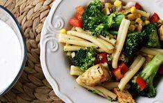Kulinarne Inspiracje: Sałatka z makaronem, kurczakiem i brokułem