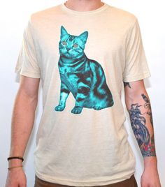 Artisan Tees - Hypnotic Cat V-neck T-shirt Crazy Cat Lady, Crazy Cats, I Love Cats, Cool Cats, Pastel Goth Fashion, Cat People, Grumpy Cat, Cat Memes, Shirt Shop