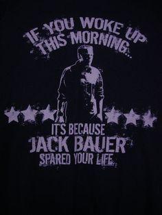 24 TV Series Show Jack Bauer Spared Your Life 2XL T Shirt Kiefer Sutherland CTU