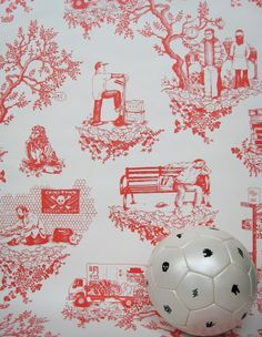 "aswesome custom screen-printed wallcoverings, this is original design ""chinatown toile"" brilliant :)"