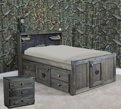 Mossy Oak Captains Bed With Tons Of Storage Www Sbbed