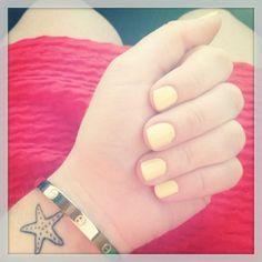 Simple Colorless Starfish Tattoo