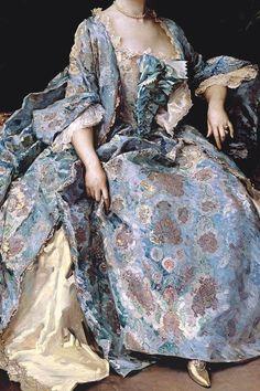 Portrait of a Lady by Raimundo de Madrazo y Garreta (Detail) Vintage Dresses, Vintage Outfits, Vintage Fashion, Historical Costume, Historical Clothing, Mode Renaissance, Rococo Fashion, 18th Century Fashion, 17th Century