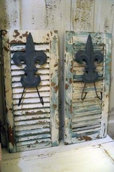 salvaged wood shutters up-cycle