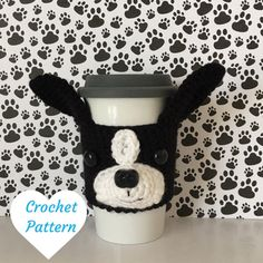 If you are a dog lover and also love to crochet, this amigurumi Boston Terrier pattern will enable you to recreate this adorable mug cozy! You do not need to be an experienced crocheter, I include lots of pictures and Angels Tips to make this an easy and fun project to do! It is easy to customize as well, simply choose your yarn colors accordingly! The cozy slides up your travel mug for a snug fit around the middle. It will stretch to fit most cup sizes. The cozy also looks adorable on water…