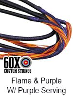 flame purple with purple serving custom bow string color