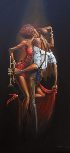 Black art prints & African American Art & Gifts Frank Morrison - Take 5 - Frank Morrison's Romantic Collection. African American Artwork, African Art, Frank Morrison Art, Arte Black, Natural Hair Art, Jazz Art, Black Art Pictures, Black Love Art, Poster