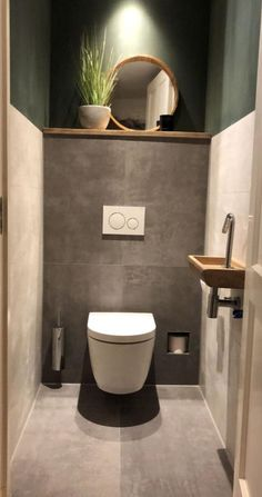 Washroom Design, Bathroom Design Luxury, Bathroom Layout, Modern Bathroom Design, Interior Design Toilet, Small Bathroom Ideas, Small Bathroom Interior, Classic Bathroom, Small Downstairs Toilet