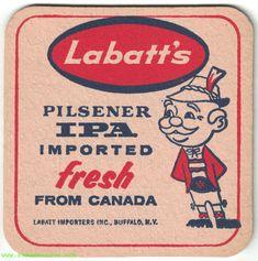 Labatt's Pilsener IPA Beer Coaster Bottle Opener Keychain, Beer Coasters, Blue Bottle, Ipa