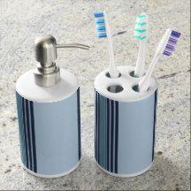 stripe pattern bath set