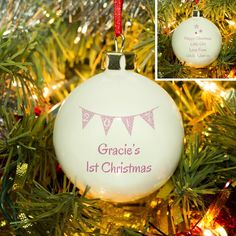 Pink Bunting Design 1st Christmas Personalised Ceramic Christmas Tree https://harringtons-gift-store.co.uk/collections/christmas-gifts/products/pink-bunting-design-1st-christmas-personalised-ceramic-christmas-tree-baubleBauble
