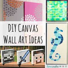 31 DIY Canvas Wall Art Ideas - Make some DIY wall art today!