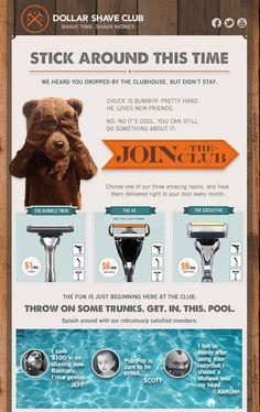 Dollar Shave Club : Email : Abandon Cart by celine nahas, via Behance