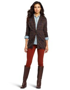50% Off was $187.00, now is $93.50! Only Hearts Women's Jacquard Knit Fair Isle Boyfriend Jacket + Free Shipping